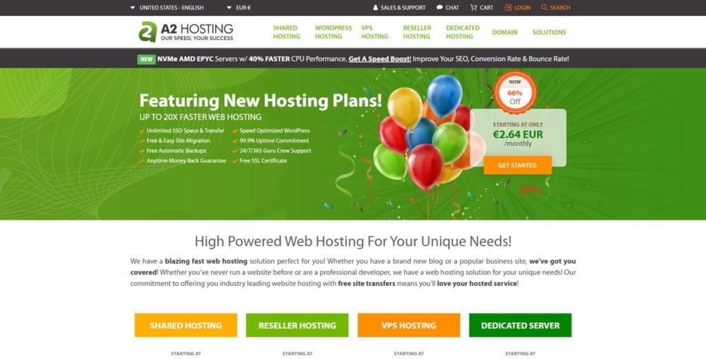A2Hosting è tra i migliori Hosting per WordPress negli ultimi anni
