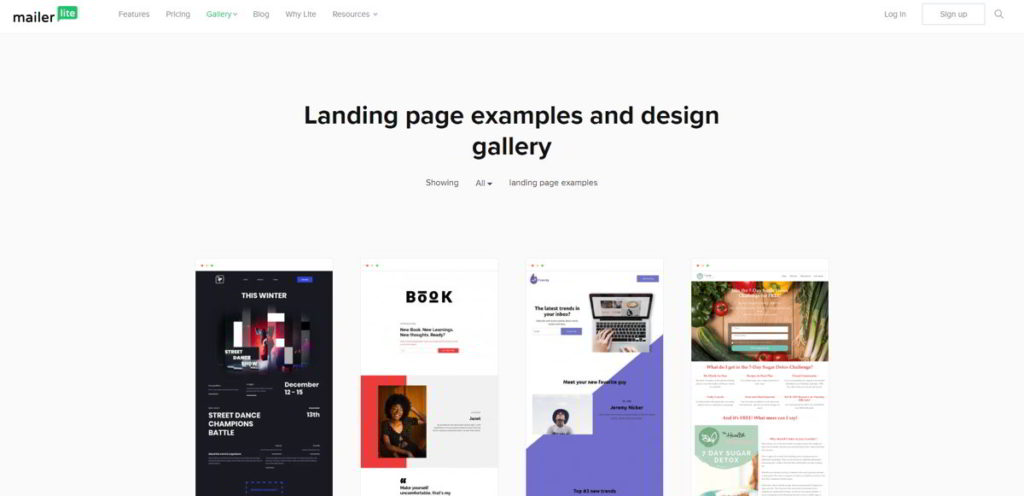 MailerLite Landing Page Creator