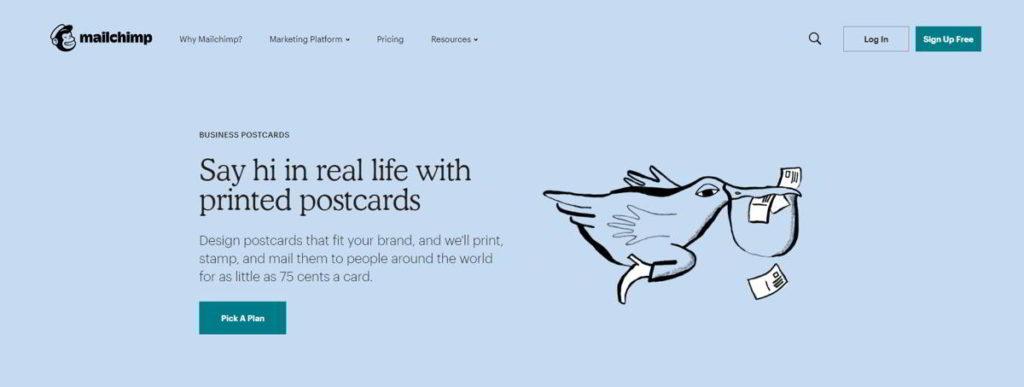 Invia una cartolina reale ai tuoi contatti