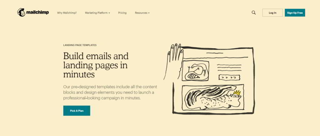 Email e Landing Page Builder