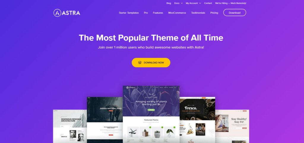 Astra - Un Tema WordPress Gratuito, Leggero e Veloce