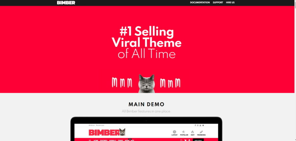 Tema WordPress Bimber
