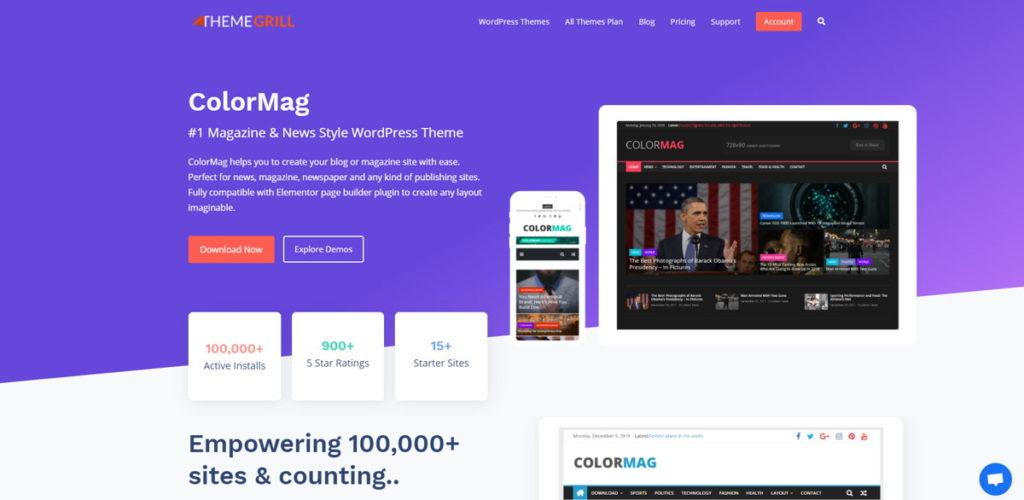 ColorMag - Miglior Tema WordPress Gratis per un sito di News