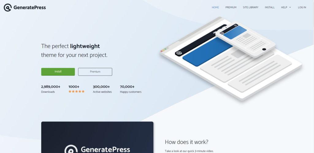 GeneratePress è un tema semplice e molo versatile