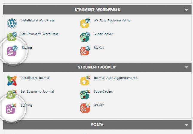 Come creare una copia di Staging del proprio sito web