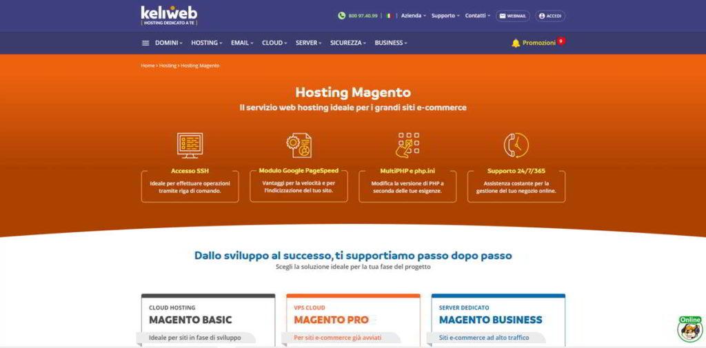 Hosting Magento Keliweb