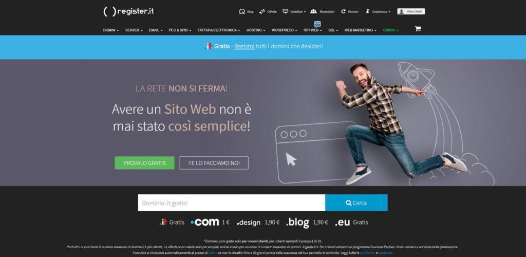 Register.it - Hosting Italiano