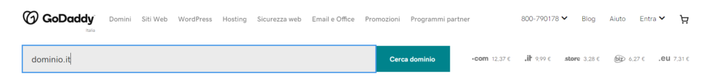 Registrare un dominio con GoDaddy